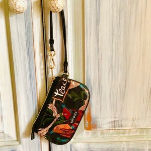 Sakroots Coated Canvas Peace Wristlet